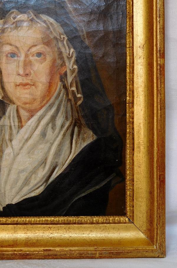 Portrait de la Reine Marie-Antoinette au Temple, souvenir historique royaliste fin XVIIIe siècle