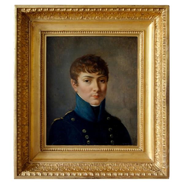 Portrait d'un élève du Lycée Impérial sous l'Empire, HST attribuée à Van Gorp