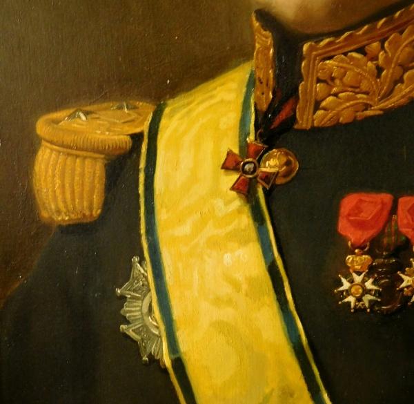 Augustin Feyen-Perrin : portrait d'un Général de Brigade - huile sur toile vers 1880