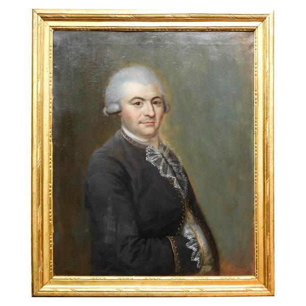 Ecole Française du XVIIIe siècle - portrait de gentilhomme - huile sur toile