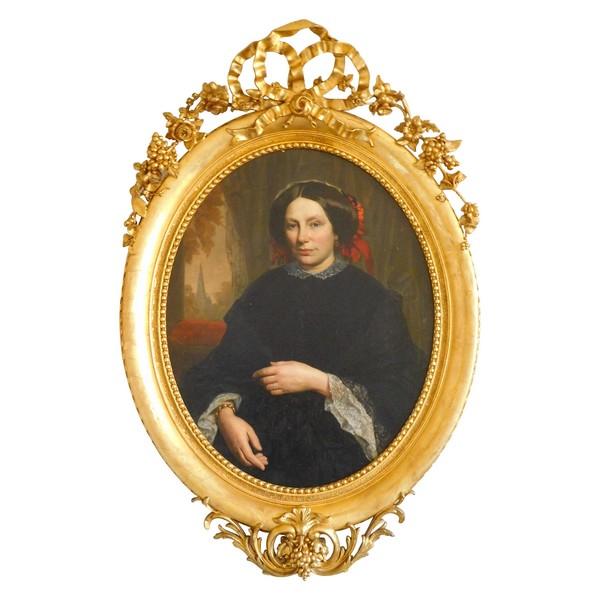 Portrait de la Marquise de La Baume du Puy-Montbrun, époque Napoléon III