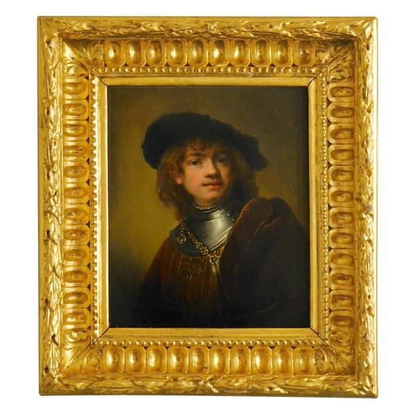 Ecole Italienne du début XIXe siècle portrait de Rembrandt de la galerie des offices à Florence