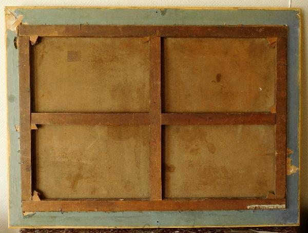Ecole du XVIIIe siècle, suiveur d'Hubert Robert : personnages et ruines antiques, signé et daté 1775