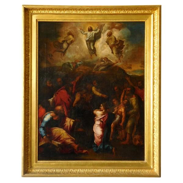 Ecole du XVIIIe d'après Raphaël, la Transfiguration du Christ
