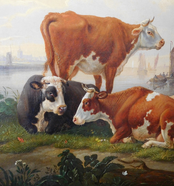 Ecole Flamande du début XIXe siècle : cavalier dans un paysage - Abraham Bruiningh van Worell